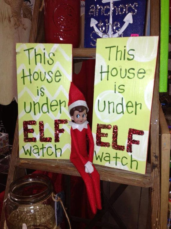 This House is under ELF watch wood sign by amcbenton on Etsy, $16.00