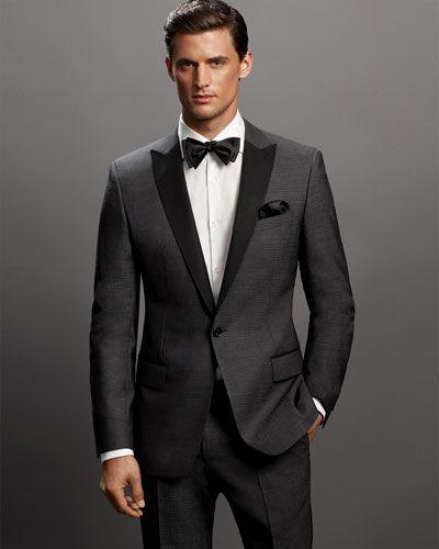 Boss Hugo Boss Herringbone Contrast-Lapel Jacket #menswear #MensFashion @hugoboss