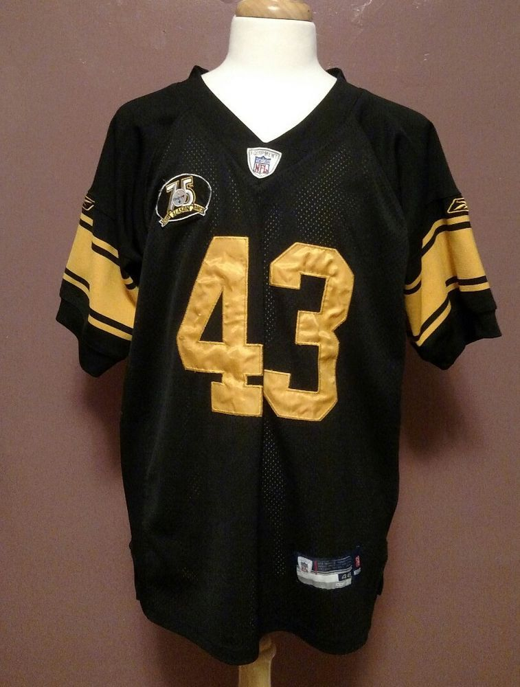 brand new 86470 f2c24 Reebok Authentic NFL Equipment Pittsburgh Steelers Troy ...