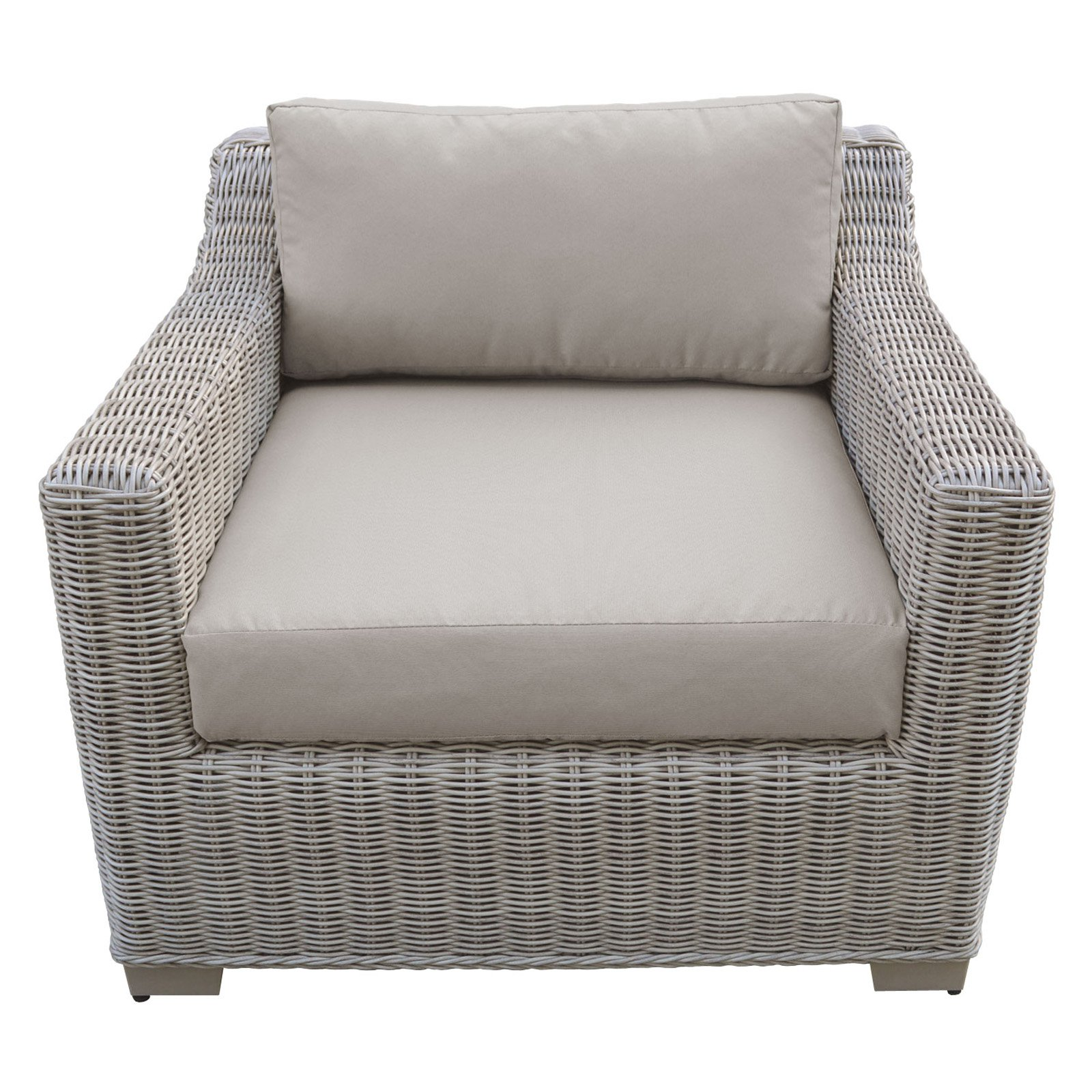 Outdoor Tk Classics Coast Wicker Patio Club Chair Wheat In 2019
