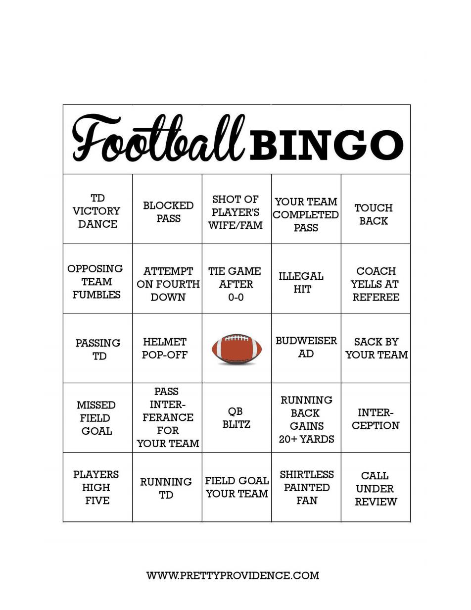footballbingo18.pdf Football games to play, Bingo