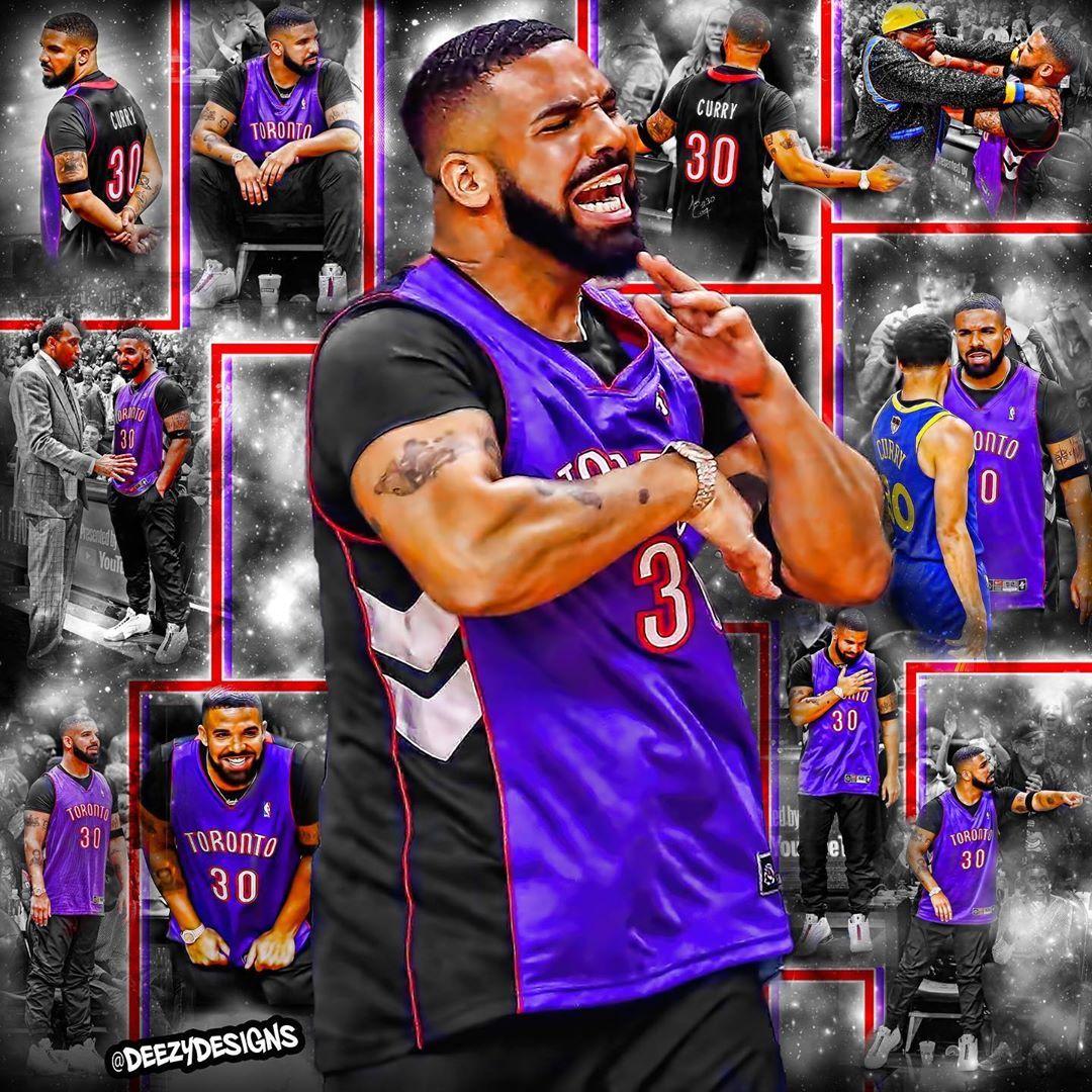 Drake during Game 1 of NBA Finals!!! drake nba finals