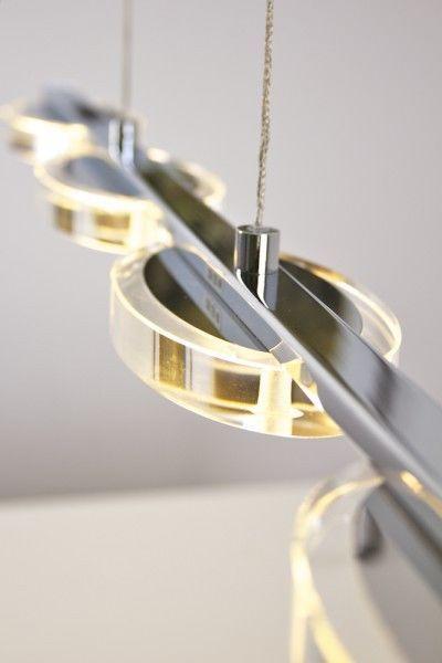 Hängeleuchte Design design pendelleuchte led hängele leuchte glas pendelle chrom