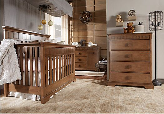 Picture Of Vincente Oak 3 Pc Nursery From Nursery Room Sets
