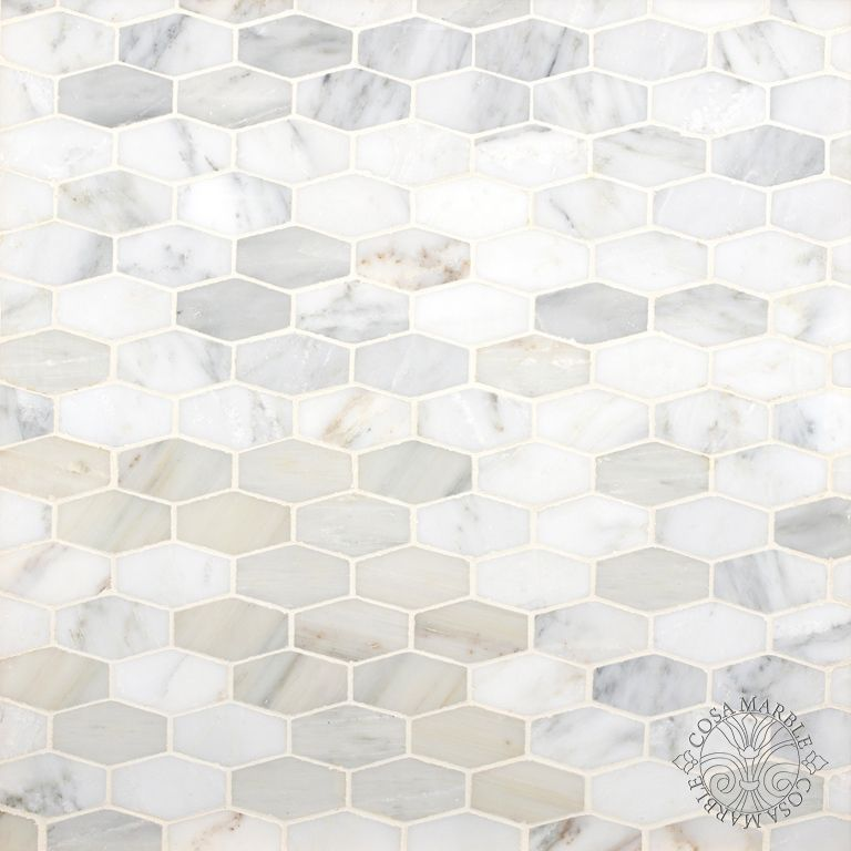 Elongated Hex Tile Cosa Marble Co Decorative Tile Backsplash