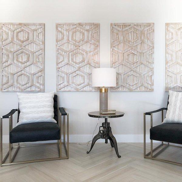 Graphic Wood Wall Art Whitewashed Hexagon Carved Wood Wall Art Wood Wall Wood Wall Art