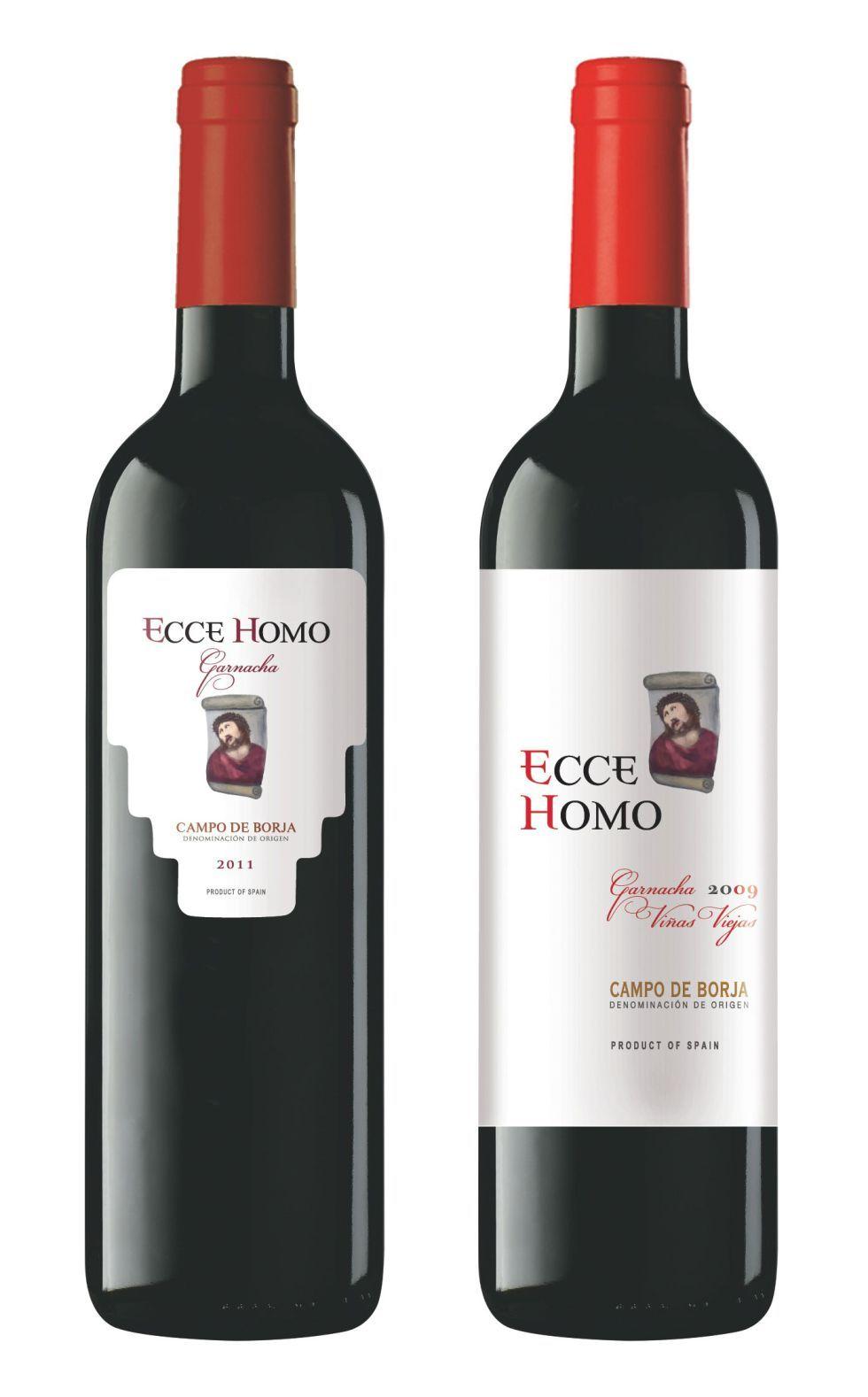 El Ecce Homo en etiqueta de vino. Un buen vinito para esta tarde