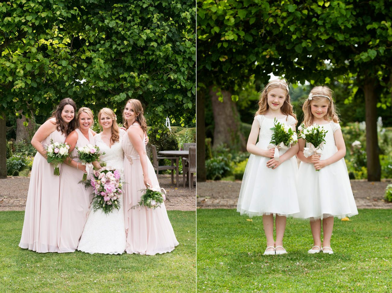James & Katie's navy & pale pink wedding at Kelmarsh Hall