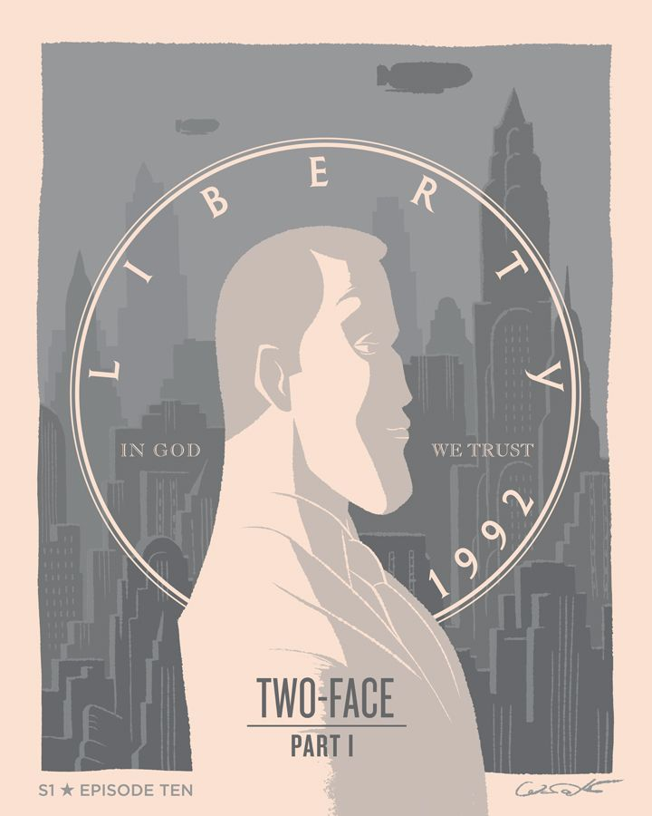 Btas Two Face Part 1 By George Caltsoudas Batman The Animated