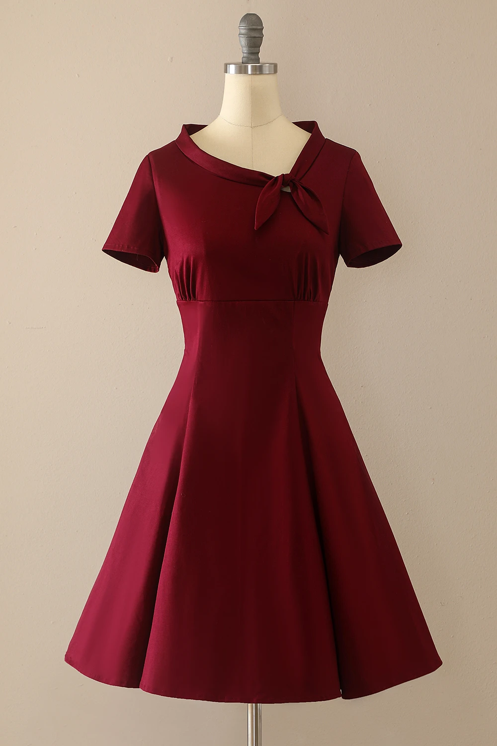 Burgundy Vintage Fall Dress With Sleeves Cocktail Dress Vintage Vintage Red Dress Red Rockabilly Dress [ 1500 x 1000 Pixel ]