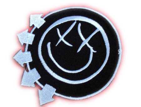 heavy metal baseball caps uk band blink smiley face music iron on patch transfer motif applique