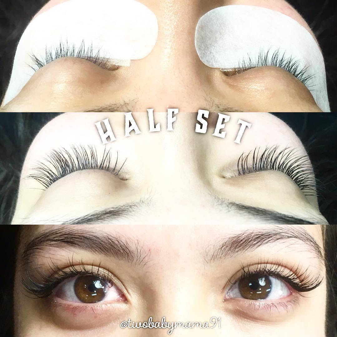 51fe5824b0e Half Set Eyelash Extension Lashes Lash Extensions  www.goddessbeautylounge.com