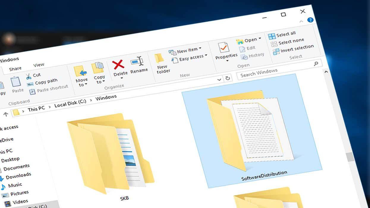 Delete or Rename Software Distribution Folder on Windows ...