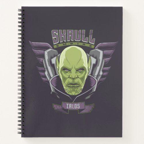 Captain Marvel Skrull Empire Talos Graphic Notebook Zazzlecom