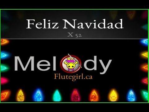 Feliz Navidad Christmas Song with Cartoon animation and flute - YouTube | Flute, Flute music ...