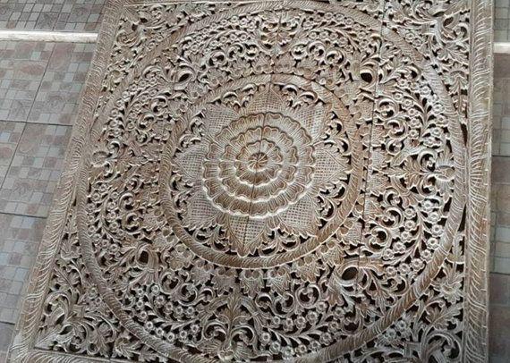 bett kopfteil 48 4ft skulptur lotus blume von thaiworldtrade - Kopfteil Plant Knig