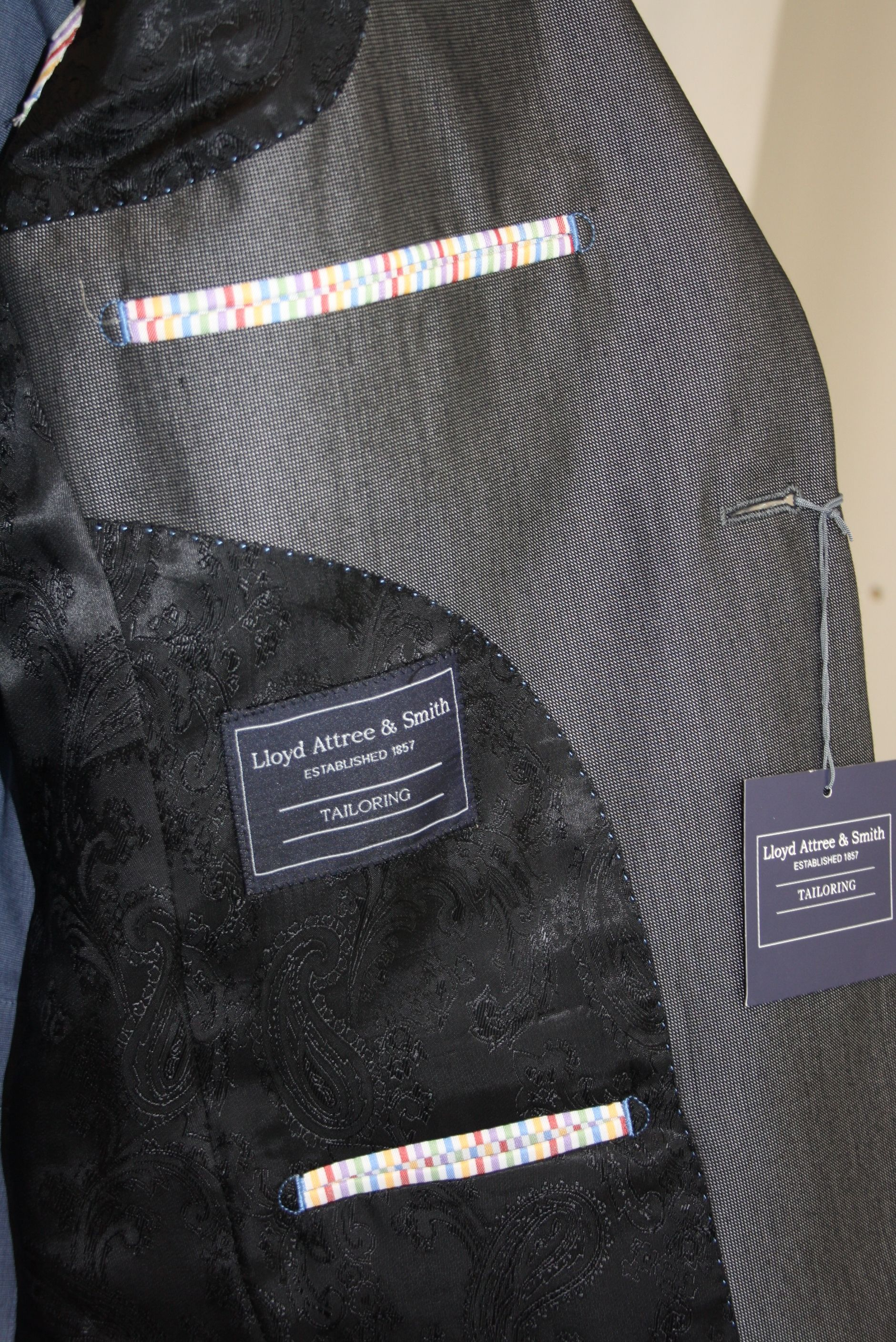 Grey Suit Lining Lining Research Suits Tailored Suits