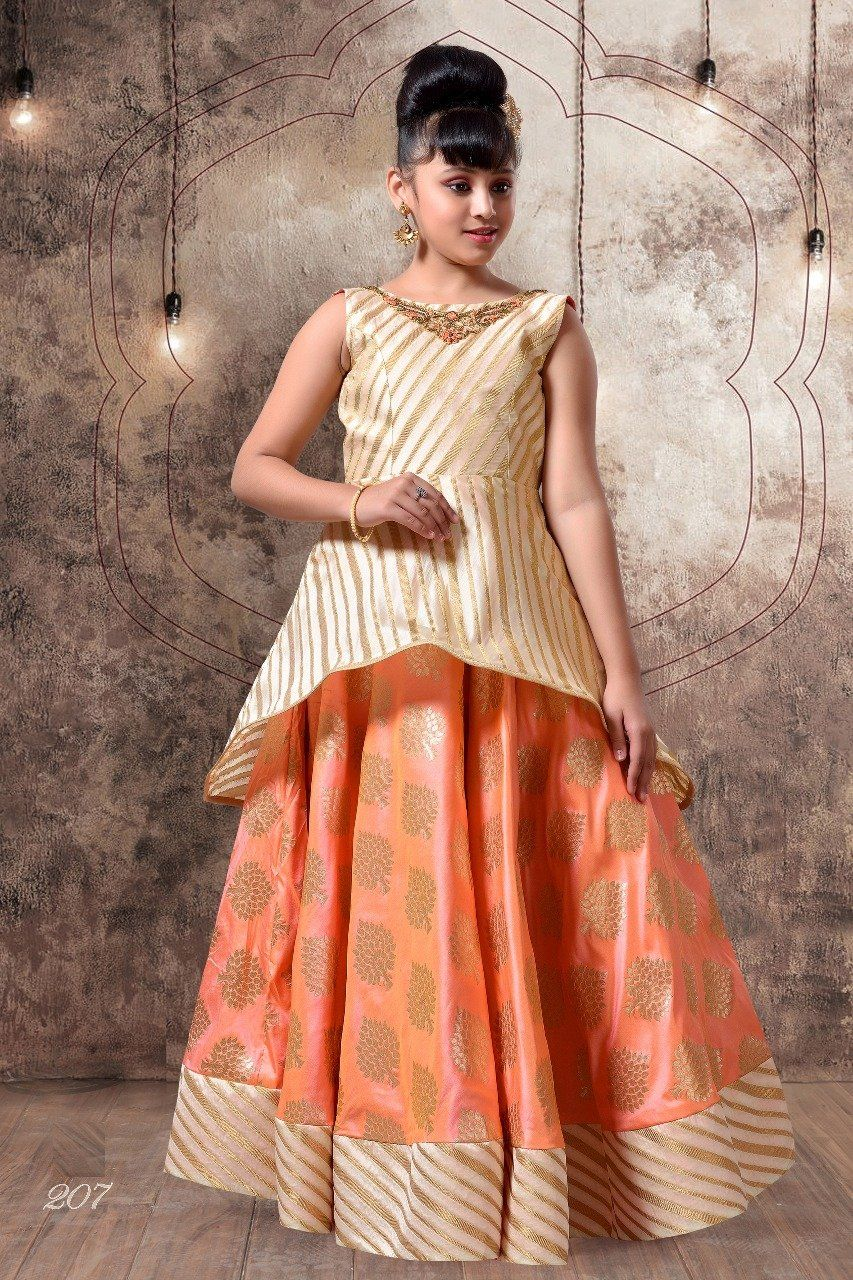 Adorning silk embroidered kids wear dresses in products