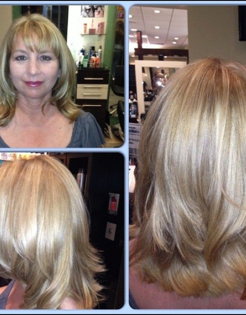 medium length hairstyles for thick hair over 50 (With