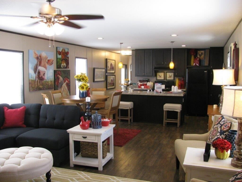 13- Living Room and Kitchen.jpg   Mobile home living, Home ...