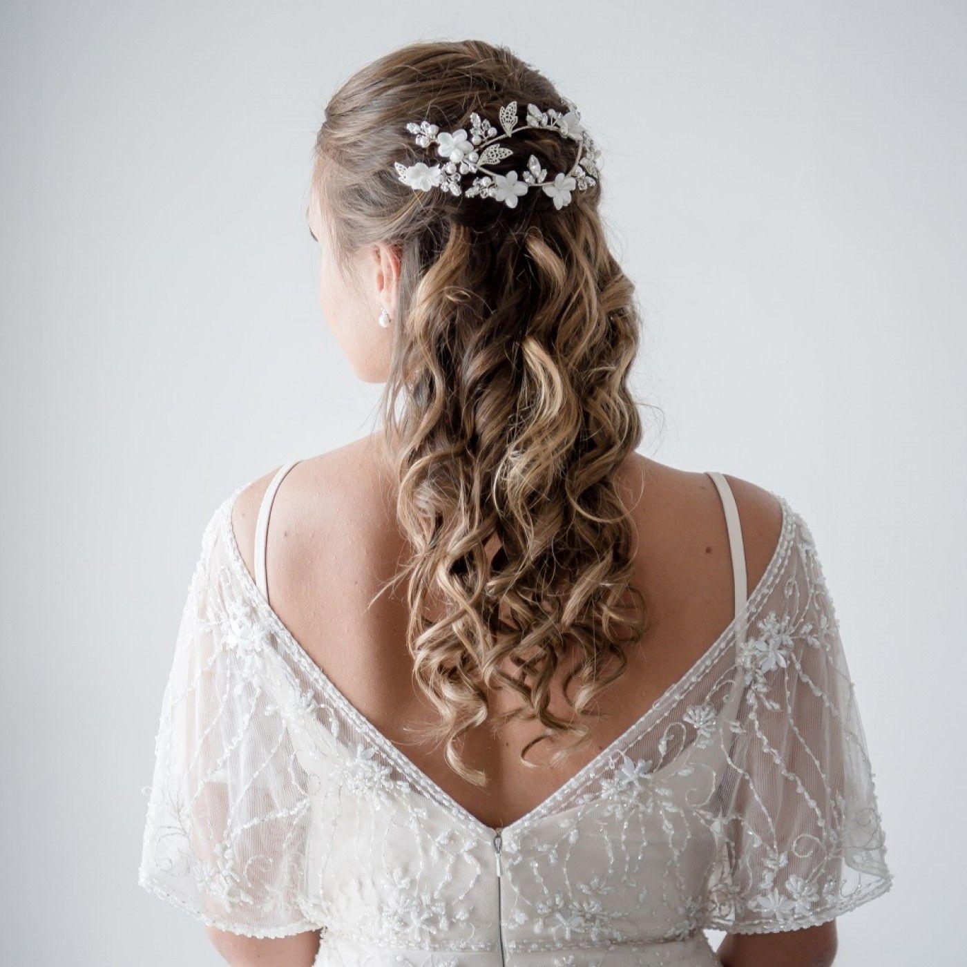 arianna entwined floral bridal hair vine ar518   hair in