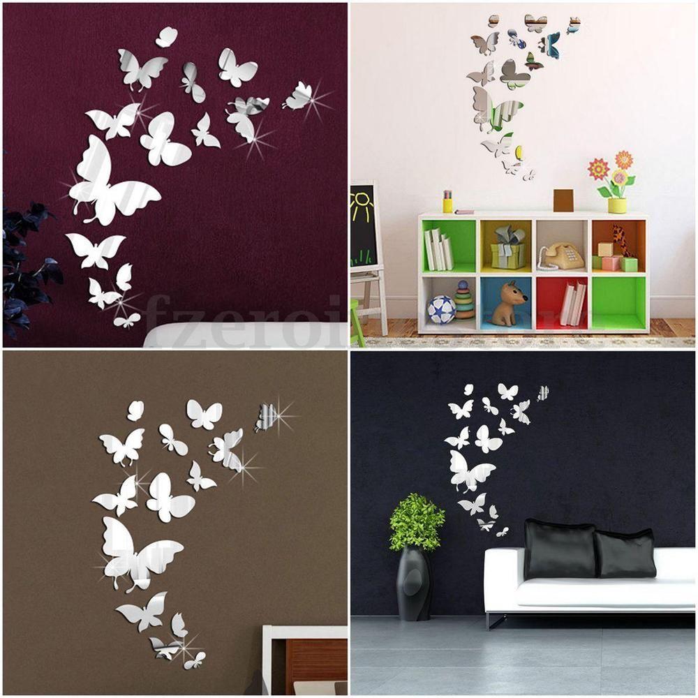 Good x Schmetterlinge Set Spiegel Wandtattoo Wanddeko DIY Wandaufkleber Wandsticker