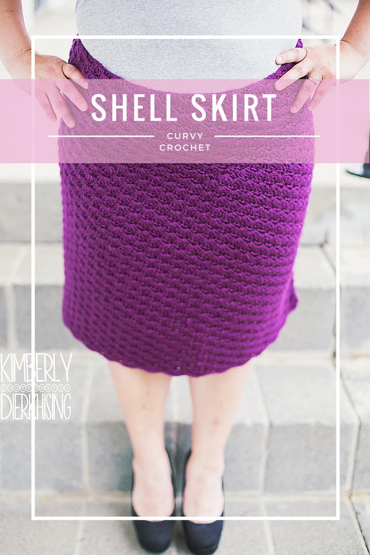 Curvy Crochet Patterns for Plus Sizes - Shell Skirt | Moogly ...