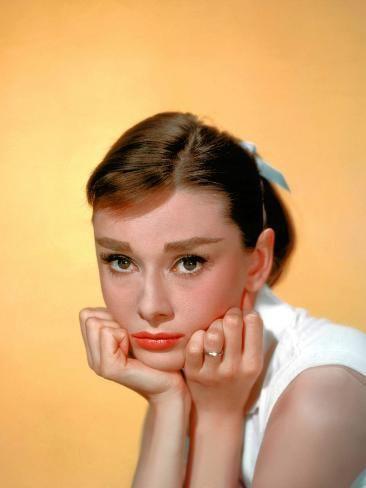 'Audrey Hepburn, 1957.' Stretched Canvas Print - | Art.com