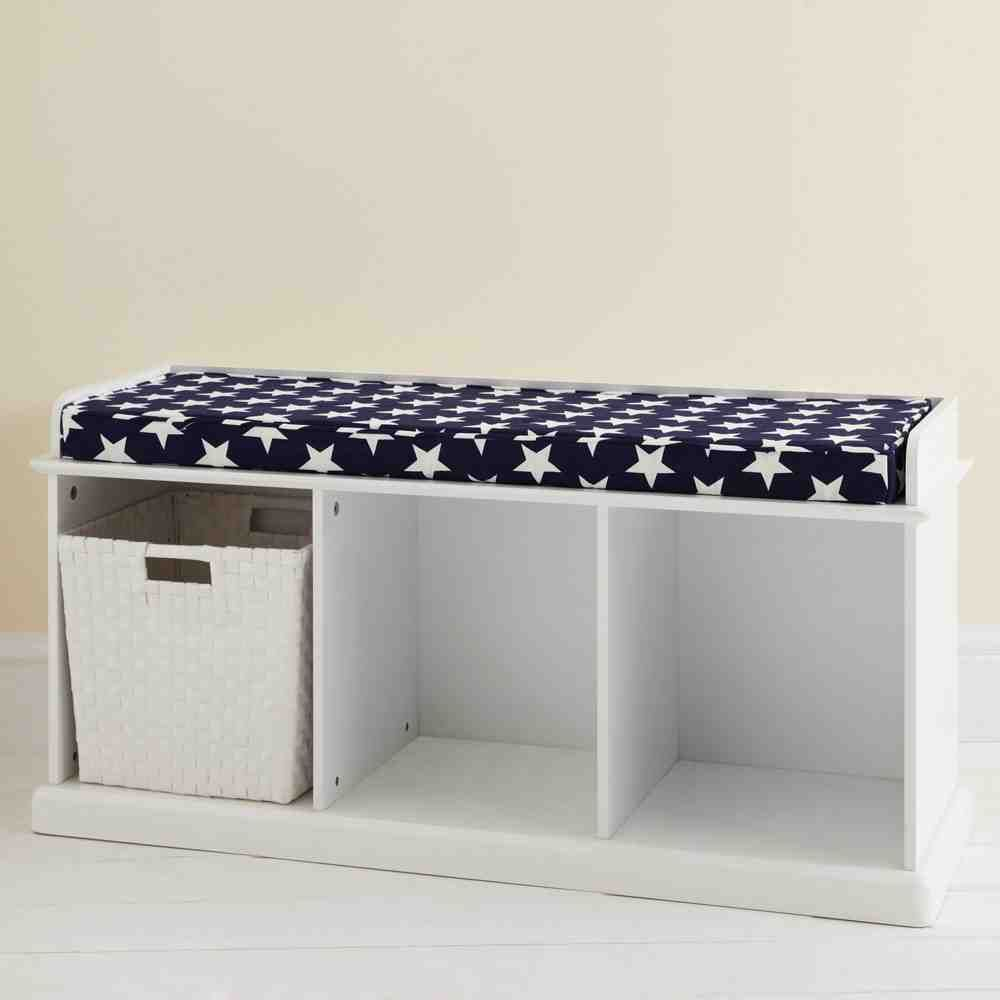 Cushioned Storage Bench Cube Storage Bench Indoor Storage Bench
