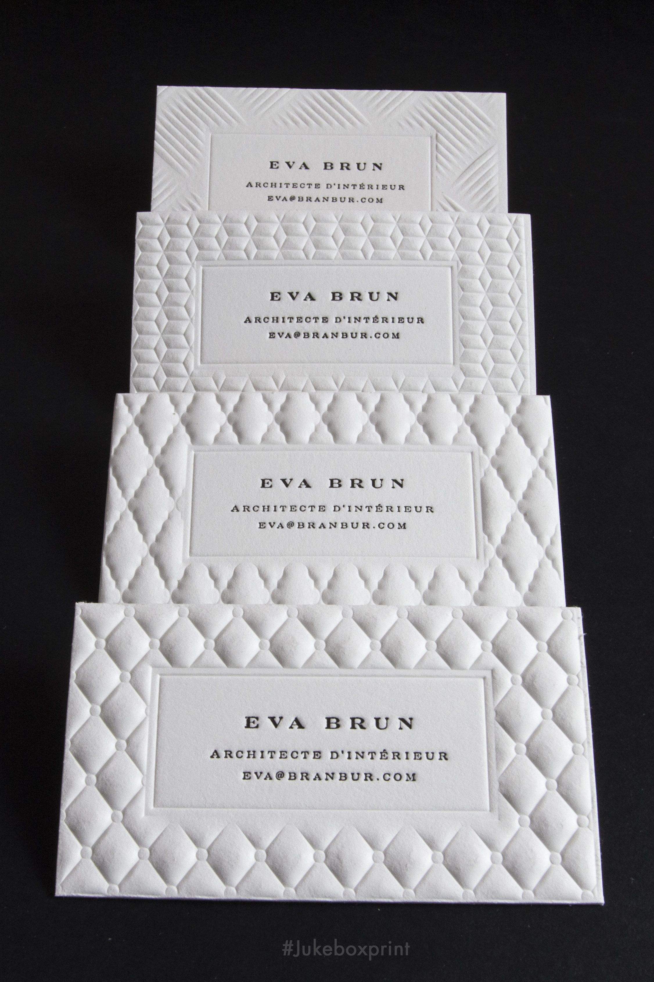 the luxury of letterpress and 3d embossing exclusively offered