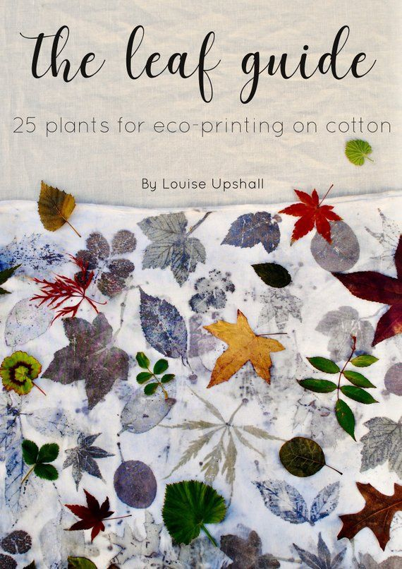 The Leaf Guide// natural dyeing ebook tutorial //25 Plants for Eco-printing on Cotton #dyeingtutorials