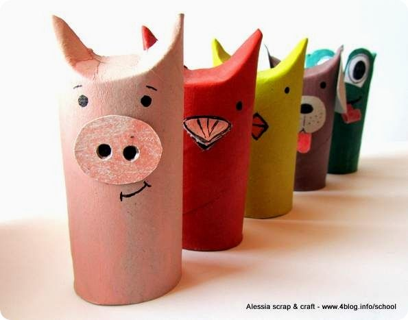 Animali Con Tubi Di Carta Igienica : Lavoretti zoo con i tubi di cartone il maialino rotoli carta