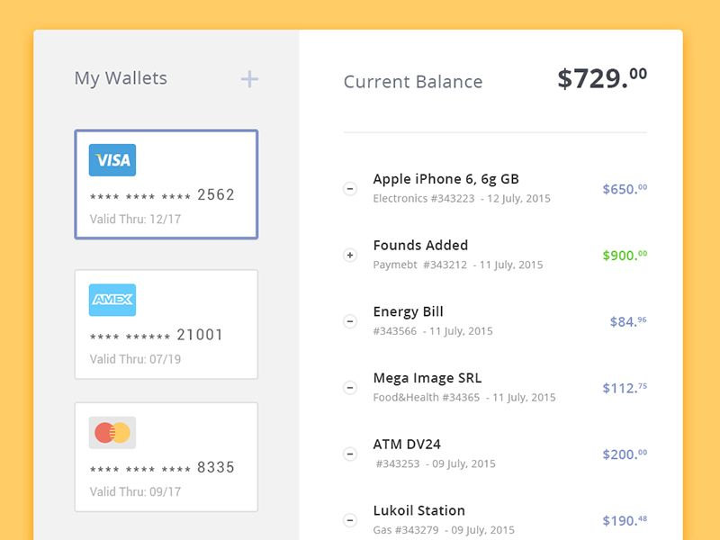 Day   Wallet My Expenses  Ui Ux Mobile Ui And User Interface