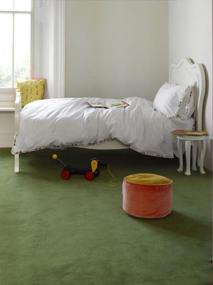 A Little Bit Darker Shade Of Green Carpet But Close White CeilingWhite WallsGreen