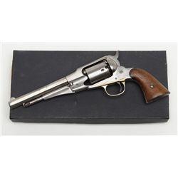 """Remington New Model S/A Belt revolver conversion, .38 cal., 6-1/2"""" octagon barrel, nickel finish,"""