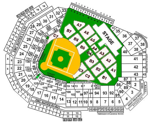 Fenway Park Seating Chart Boston Red Sox Seating Chart