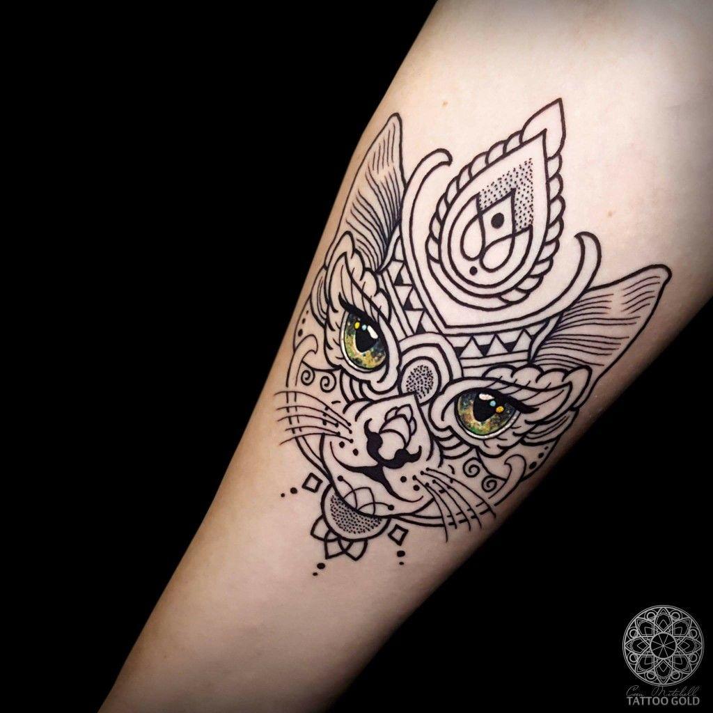 Mosaic cat tattoo | Tattoos ideas | Mandala tattoo, Mosaic ...