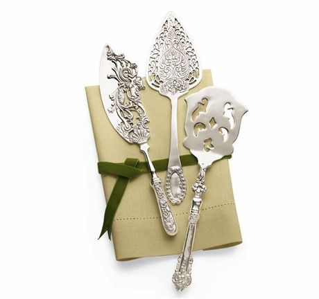 Silver-Plated Dessert Servers