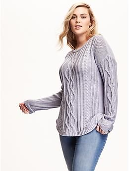3990931aadb Plus Size Cable-Knit Sweater