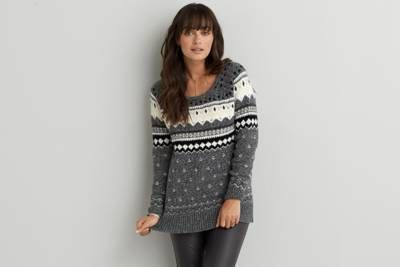 aeo cabin jegging sweateraeo  warm up your look this