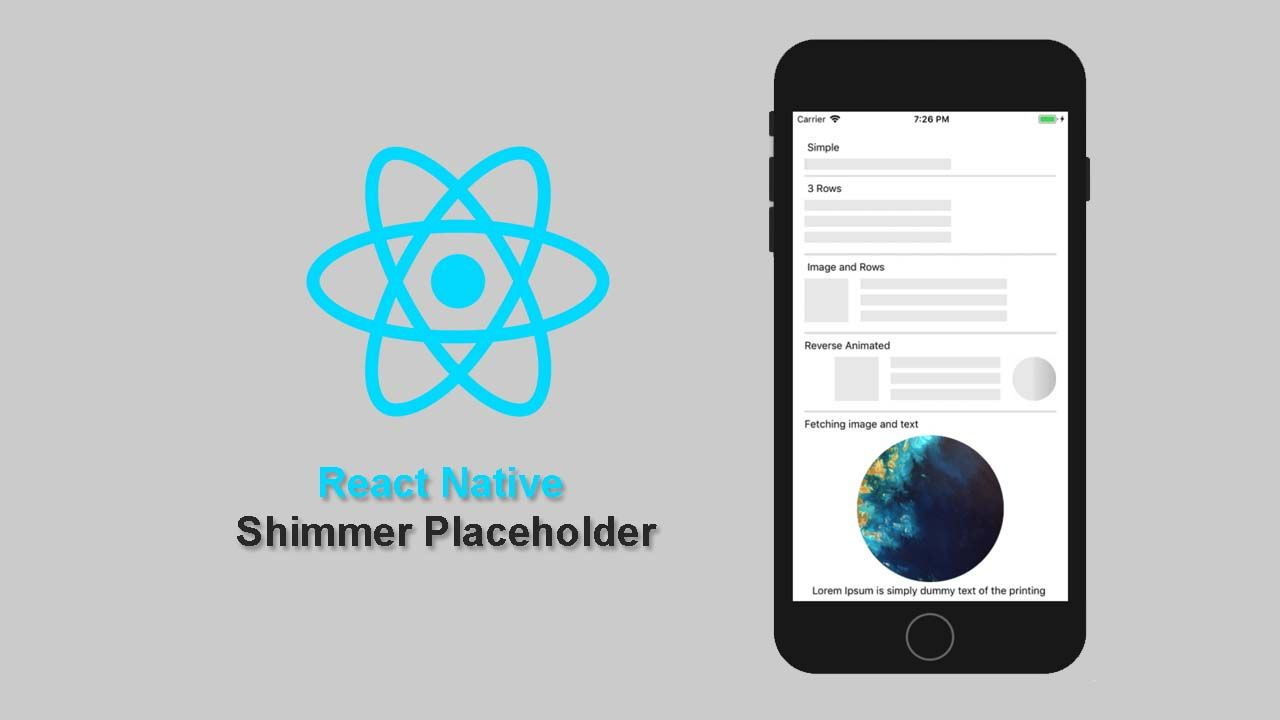 React Native Shimmer Placeholder Placeholder for both IOS