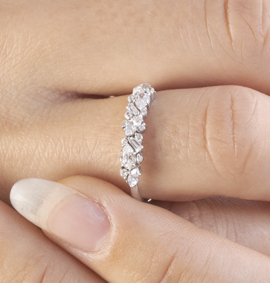 Chablis Diamond Wedding Band in 2020 Vintage engagement