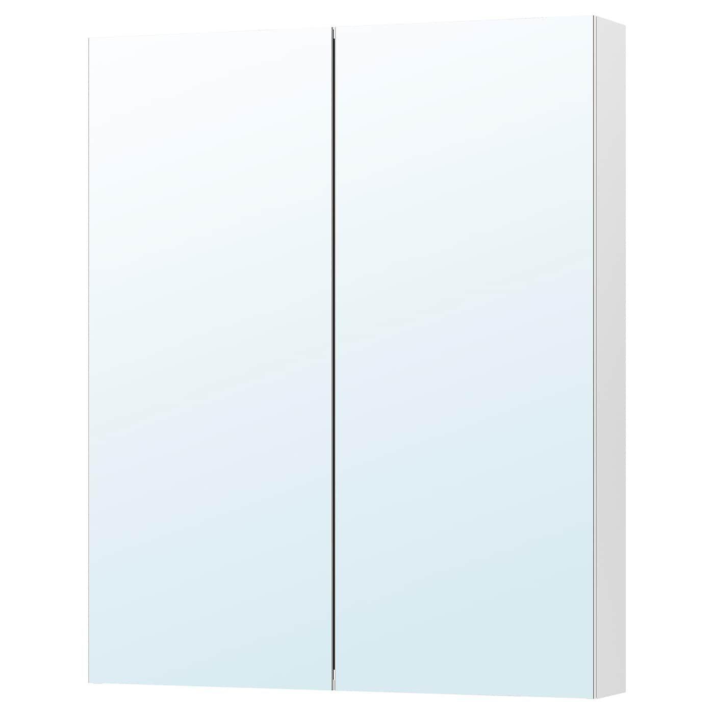 Godmorgon Spegelskap Med 2 Dorrar 100x14x96 Cm Ikea In 2020 Mirror Cabinets Glass Shelves In Bathroom Ikea Godmorgon