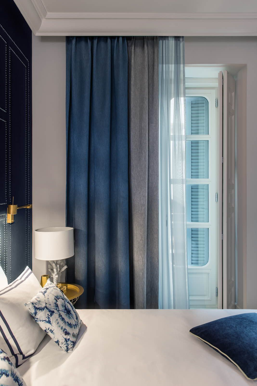 Dim out curtains from the FR-One Ataton range  Inherently