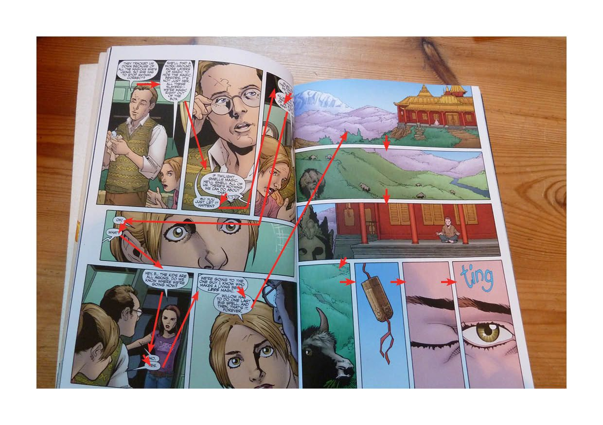 Example of comic book layout comic book layout book