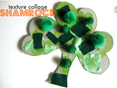 Your youngest learners at home AND school would enjoy this fun St. Patrick's Day texture art project!