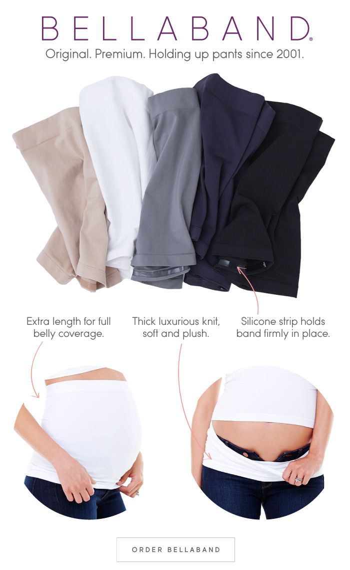 11dd6665245ca Bellaband - A premium seamless maternity band designed to hold up  unbuttoned pants and loose maternity wear, featuring a stay-put silicone  strip.