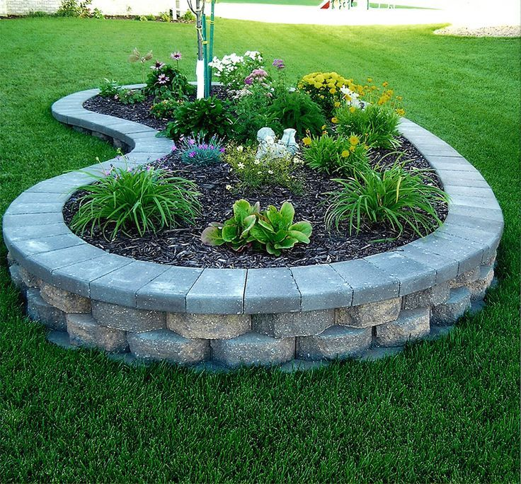 Image of stones raised flower bed plans Outdoor spaces