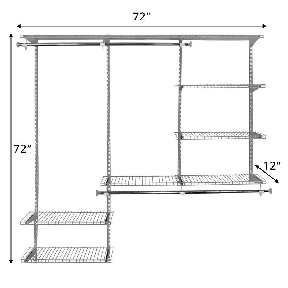 Rubbermaid Fasttrack Garage 1 Shelf 48 In X 16 In Wire Shelf Add