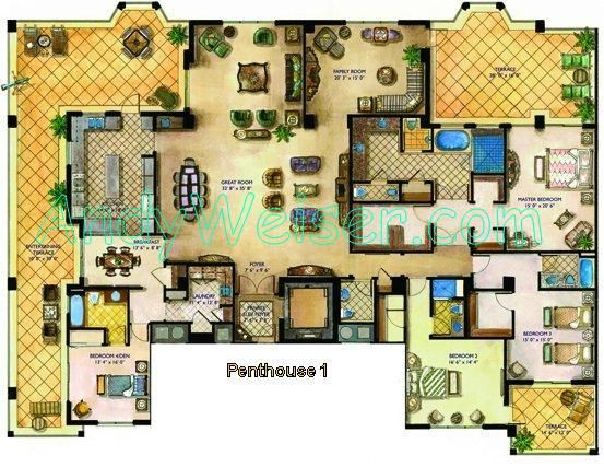 Penthouse plans and designs google search wils favorite designs pinterest penthouses and - Lay outs penthouse ...